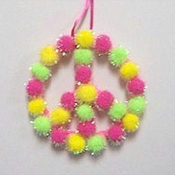 Pom Pom Peace Sign - Kids Crafts