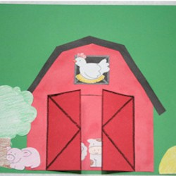 Peek-A-Boo Barn - Kids Crafts
