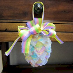 Pine Cone Shaped Easter Ornament - Kids Crafts