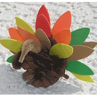 Pinecone Turkey - Kids Crafts