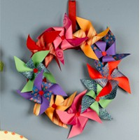 Pinwheel Wreath - Kids Crafts