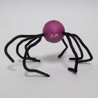 Pipe Cleaner Spider Craft