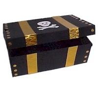 Shoe Box Pirate's Treasure Chest Craft