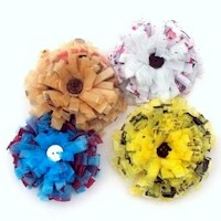 Plastic Bag Hair Rosettes - Kids Crafts