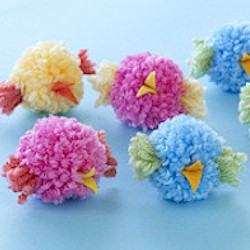 Pom Pom Baby Birds - Kids Crafts