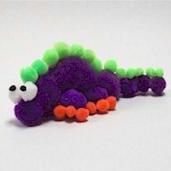 Pom Pom Dinosaur - Kids Crafts