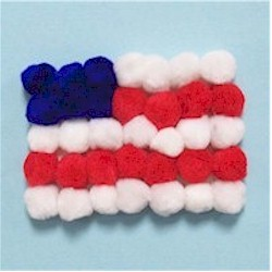 Pom Pom Flag Craft