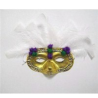 Pom Pom Mardi Gras Mask - Kids Crafts