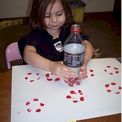 Pop Bottle Flower Prints Craft
