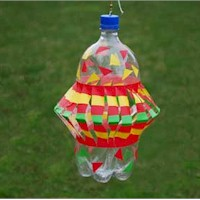 Pop Bottle Wind Spinner Craft