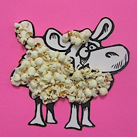 Popcorn Lamb - Kids Crafts