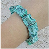 Turquoise  Potato Bead Bracelet Craft