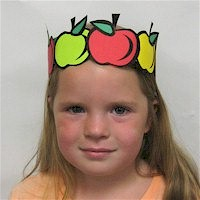 Printable Apple Crown Craft