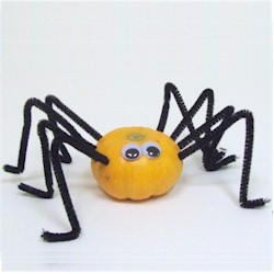 Mini  Pumpkin Spider - Kids Crafts