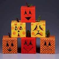 Pumpkin Blocks - Kids Crafts