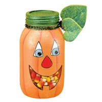 Pumpkin In A Jar - Kids Crafts
