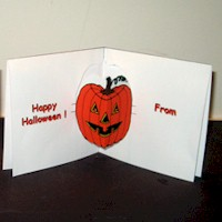 Pumpkin  Pop Up Card - Kids Crafts