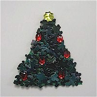 Puzzle Piece Christmas Tree Craft