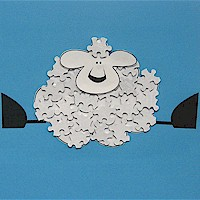Puzzle Piece Lamb Craft