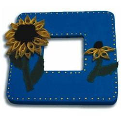 Quilled Sunflower Frame - Kids Crafts