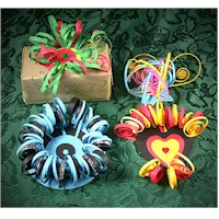 Quilled Gift Package Ornaments Craft