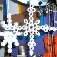 Quilled Snowflakes - Kids Crafts