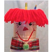 Raggedy Andy Pencil Holder Craft