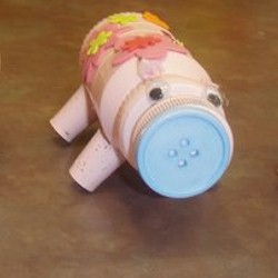 Recycled Craft Piggy Bank