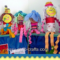 Recycled Bottle People - Kids Crafts
