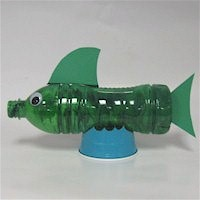 Recycled Water Bottle Fish - Kids Crafts