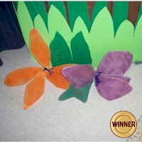Recycled Rain Forest Flowers Craft