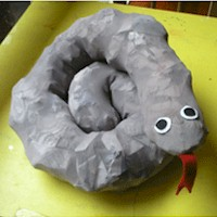 Sleepy Snake from Pantyhose - Kids Crafts