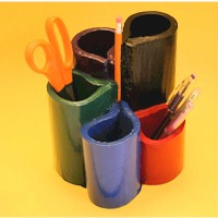 Recycled Telephone Book Pen Organizer Craft