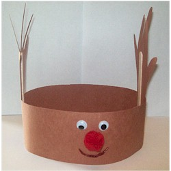 Handprint Reindeer Hat - Kids Crafts
