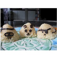 Onigiri Halloween Rice Balls - Kids Crafts