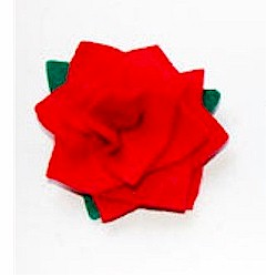 Felt Rose Broach - Kids Crafts