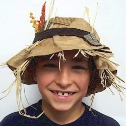 Scarecrow Hat - Kids Crafts