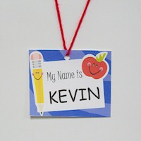 Back-To-School Name Tag - Kids Crafts