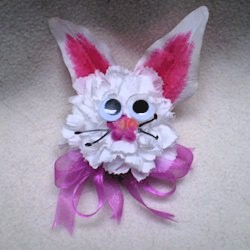 Easter Bunny Corsage Craft