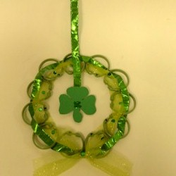 Shamrock Wreath - Kids Crafts