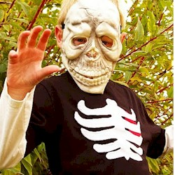 Skeleton Tee Shirt - Kids Crafts
