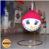 Styrofoam Snowball Ornament - Kids Crafts