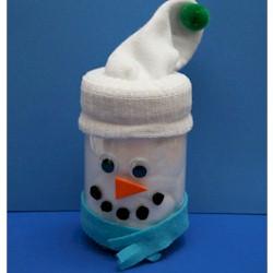 Craft Jar boneco de neve