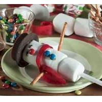 Snowman on a Stick - Kids Crafts