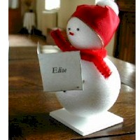 Snowman_placecards - Kids Crafts