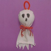 Sock Ghost - Kids Crafts