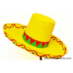 Paper Mache Sombrero - Kids Crafts