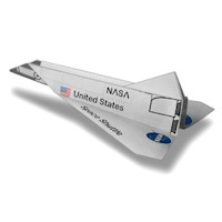 Space Shuttle Paper Airplane - Kids Crafts