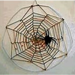 Spider Web Wall Hanging - Kids Crafts
