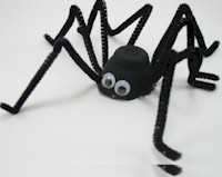 Spooky Black Spider Craft